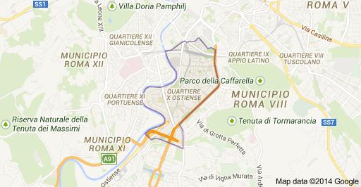 mappa zone intervento idraulico roma ostiense