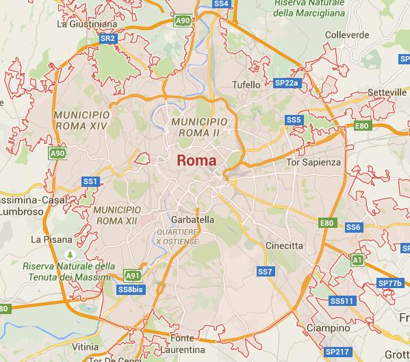 idraulico roma mappa e zone di intervento